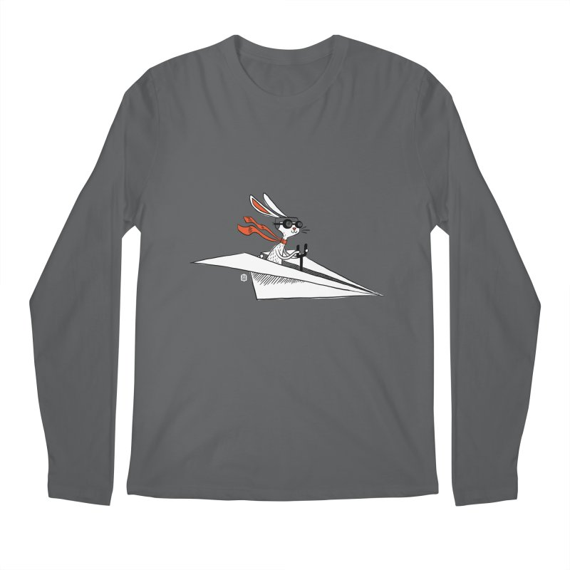 Paper Hare Plane Men's Longsleeve T-Shirt by theloulander's Artist Shop