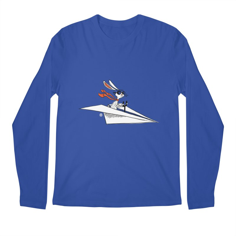 Paper Hare Plane Men's Longsleeve T-Shirt by theloulander's Artist Shop