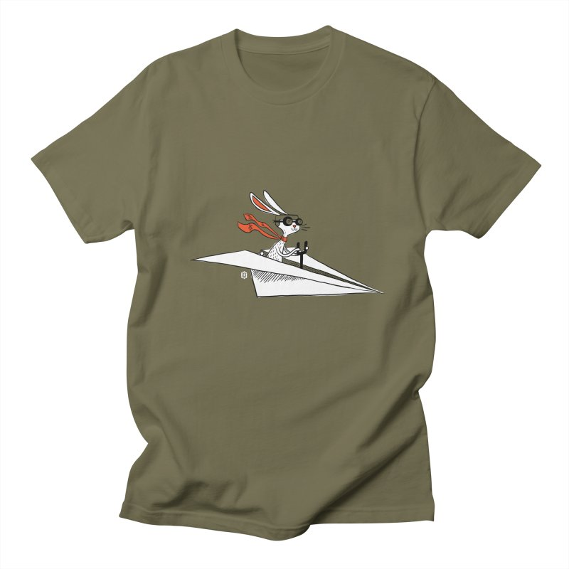 Paper Hare Plane Men's T-shirt by theloulander's Artist Shop
