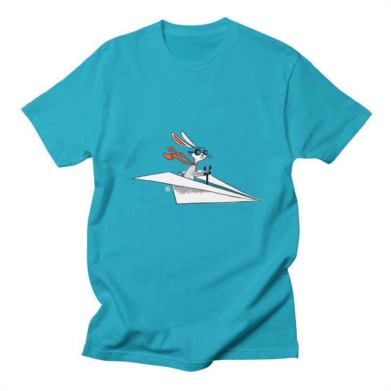 Paper Hare Plane Men's T-shirt by theloulander's Artist Shop