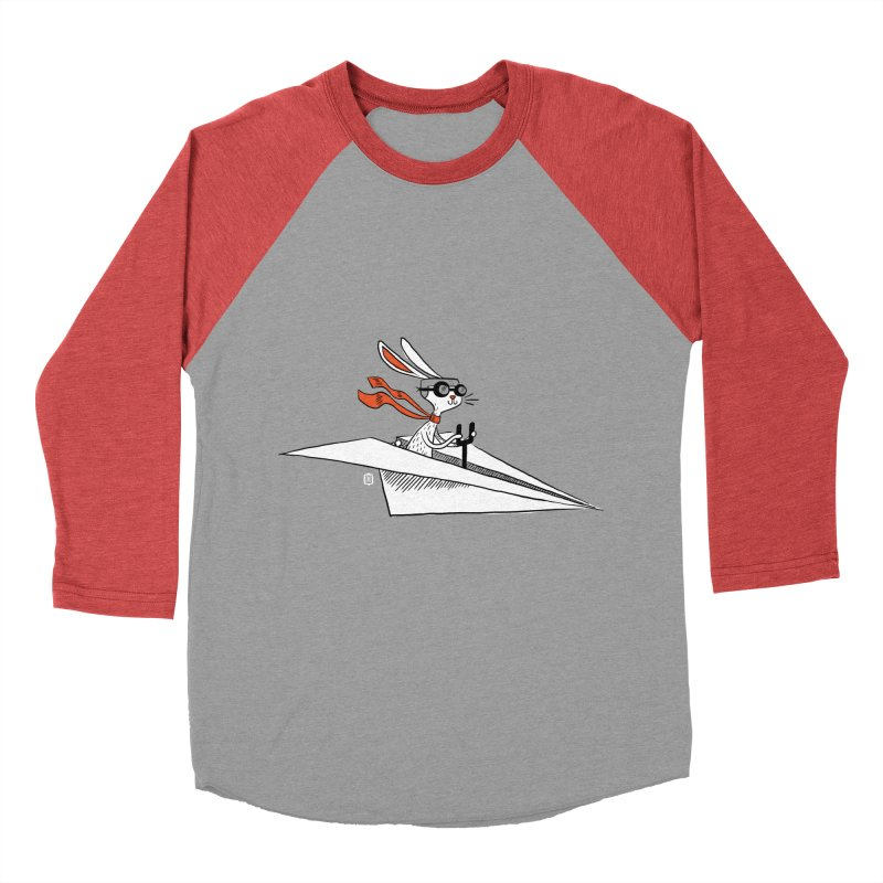 Paper Hare Plane Women's Baseball Triblend T-Shirt by theloulander's Artist Shop