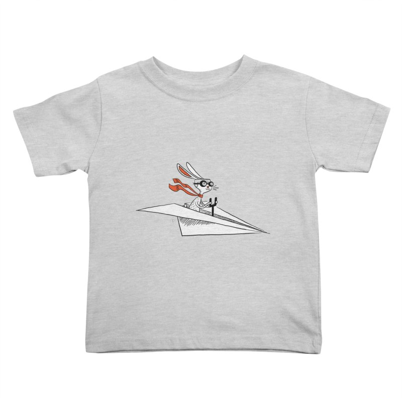 Paper Hare Plane Kids Toddler T-Shirt by theloulander's Artist Shop