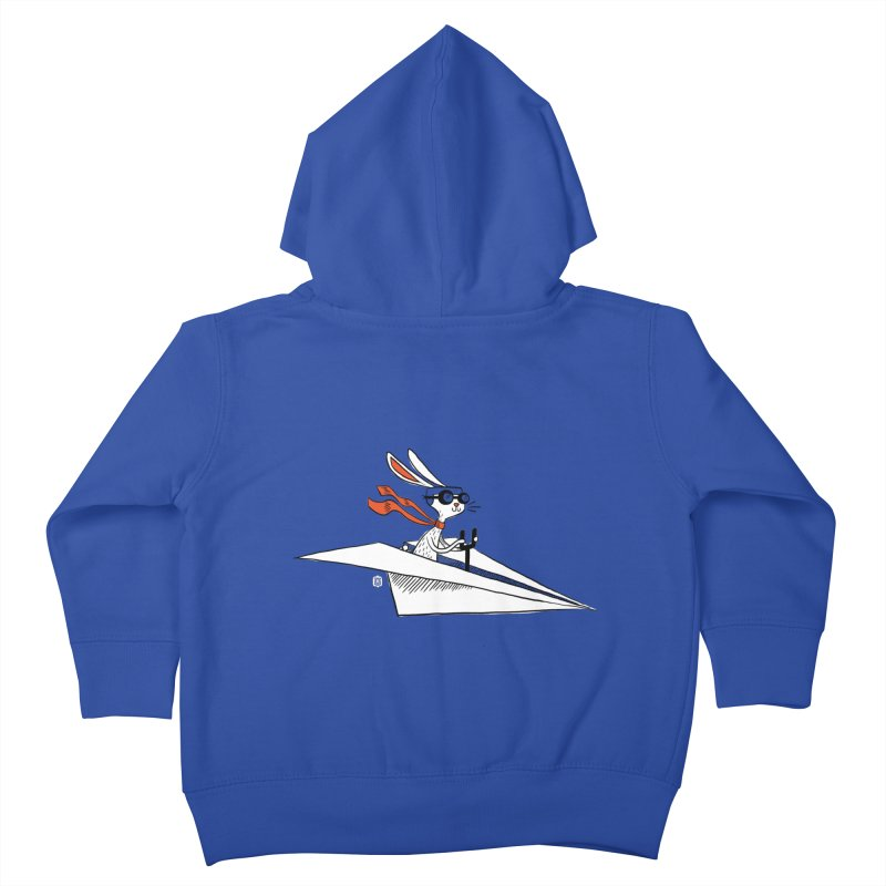 Paper Hare Plane Kids Toddler Zip-Up Hoody by theloulander's Artist Shop