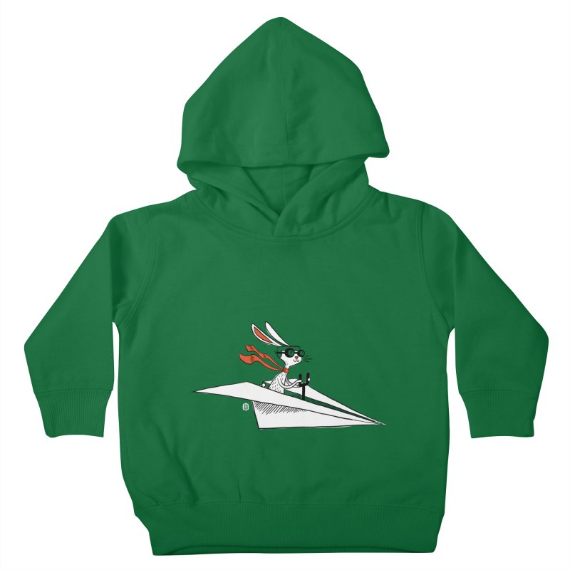 Paper Hare Plane Kids Toddler Pullover Hoody by theloulander's Artist Shop