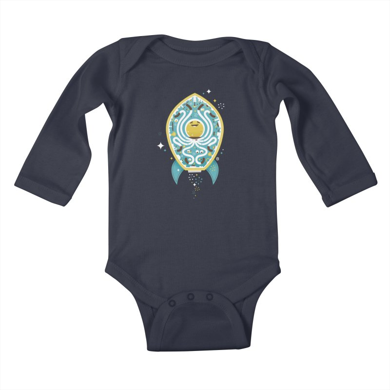 The Octonaut Kids Baby Longsleeve Bodysuit by theloulander's Artist Shop