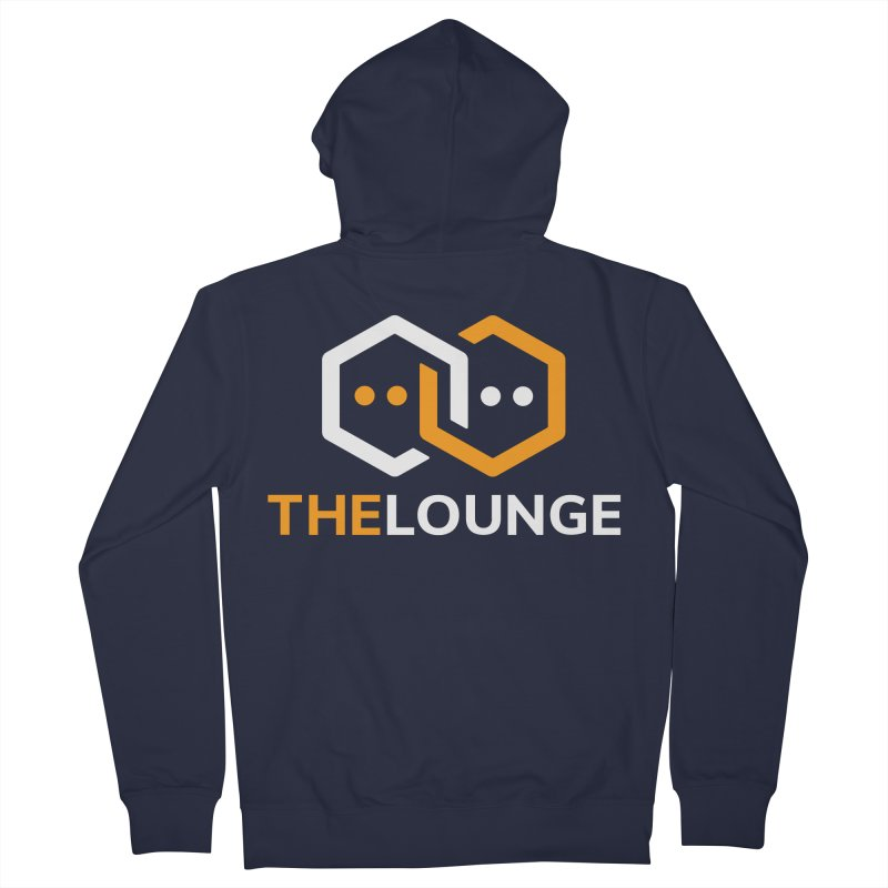 Logo (dark) Men's French Terry Zip-Up Hoody by The Lounge