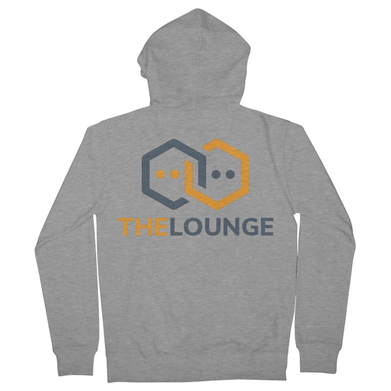 Logo (bright) Men's French Terry Zip-Up Hoody by The Lounge