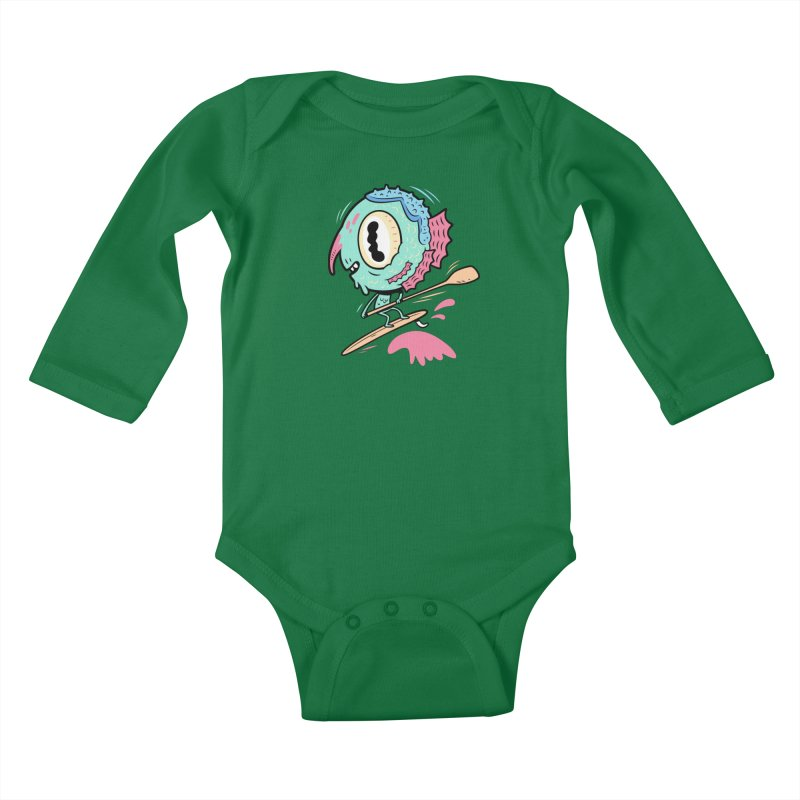 Gillmans unfettered joy! Kids Baby Longsleeve Bodysuit by The Lurid Tusk