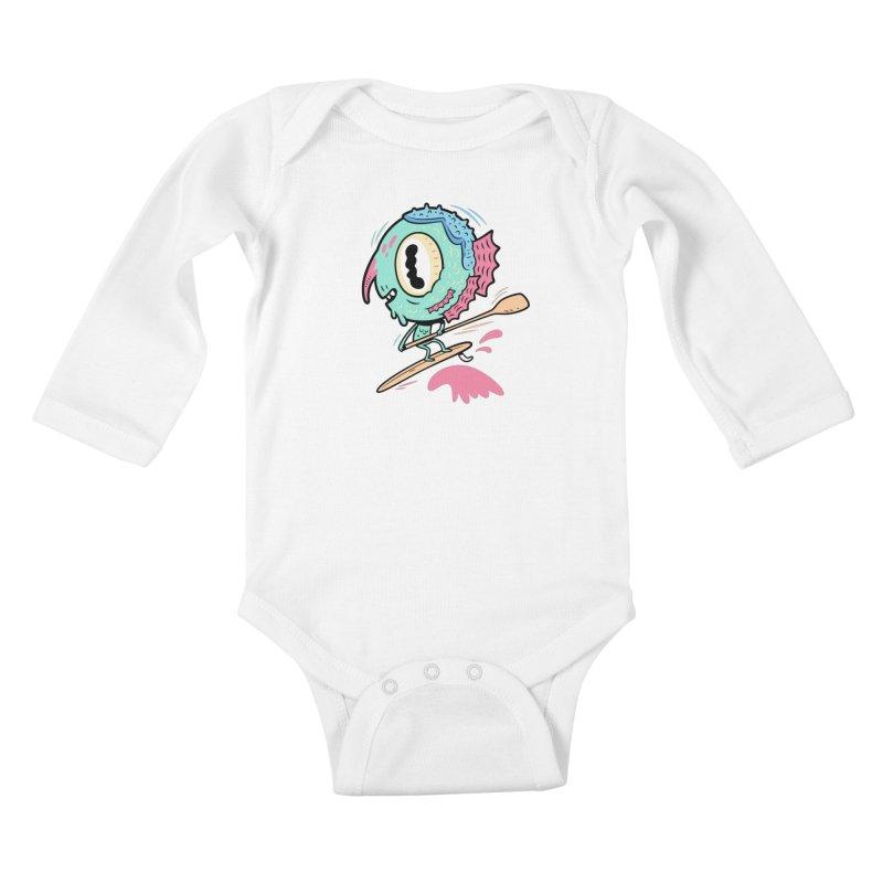 Gillmans unfettered joy! Kids Baby Longsleeve Bodysuit by The Lurid Tusk