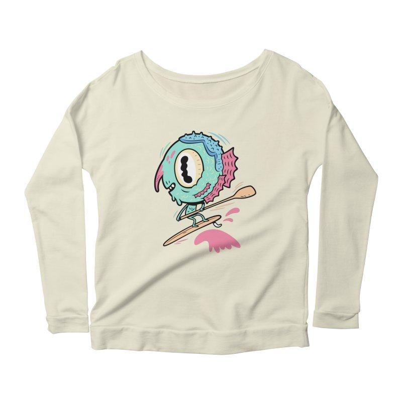 Gillmans unfettered joy! Women's Scoop Neck Longsleeve T-Shirt by The Lurid Tusk