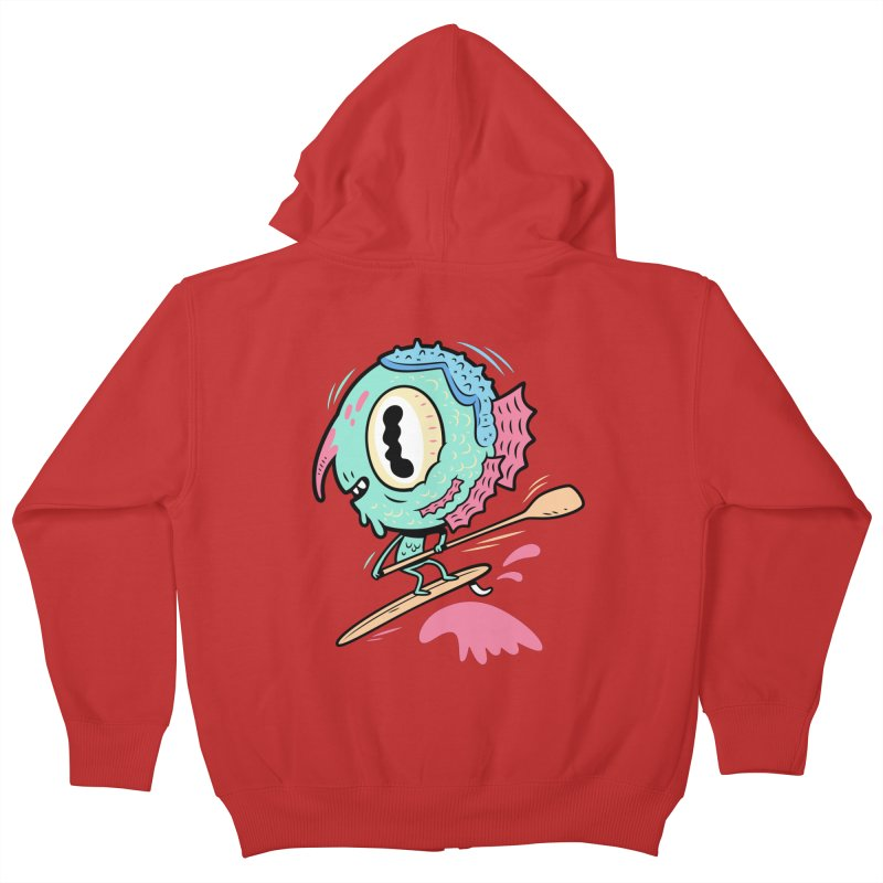 Gillmans unfettered joy! Kids Zip-Up Hoody by The Lurid Tusk