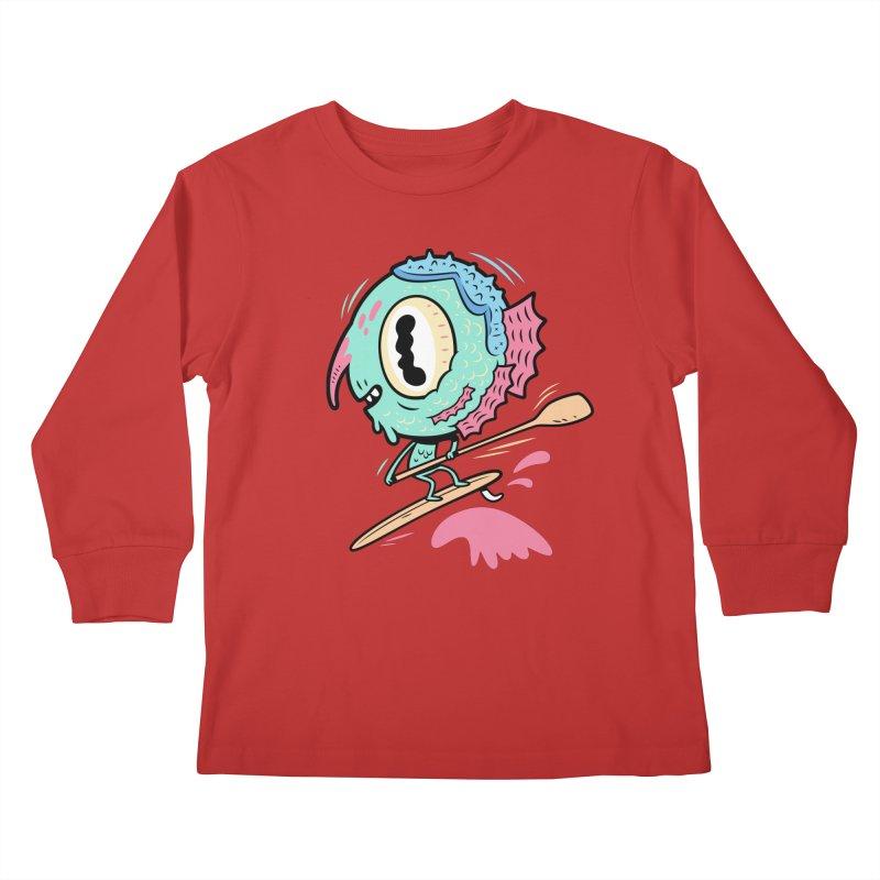 Gillmans unfettered joy! Kids Longsleeve T-Shirt by The Lurid Tusk