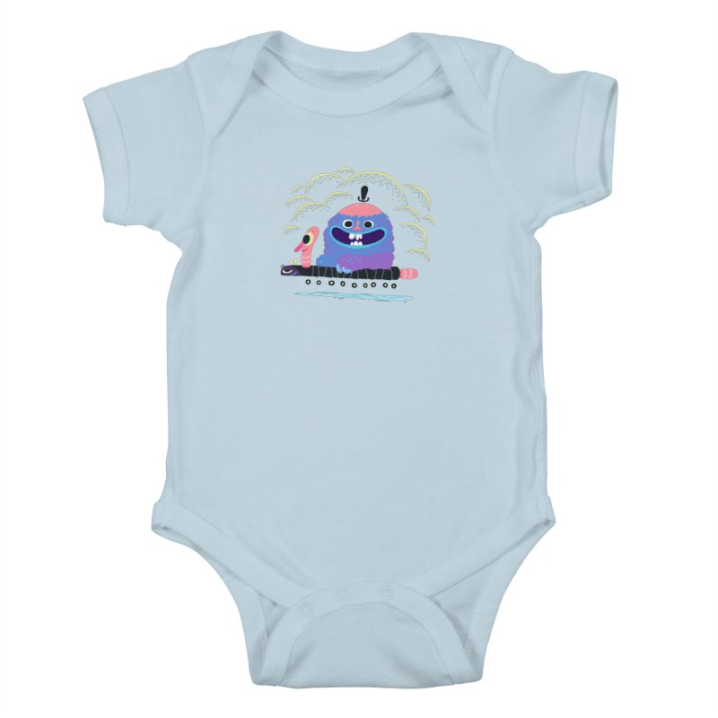 Worm Chauffeur Kids Baby Bodysuit by The Lurid Tusk