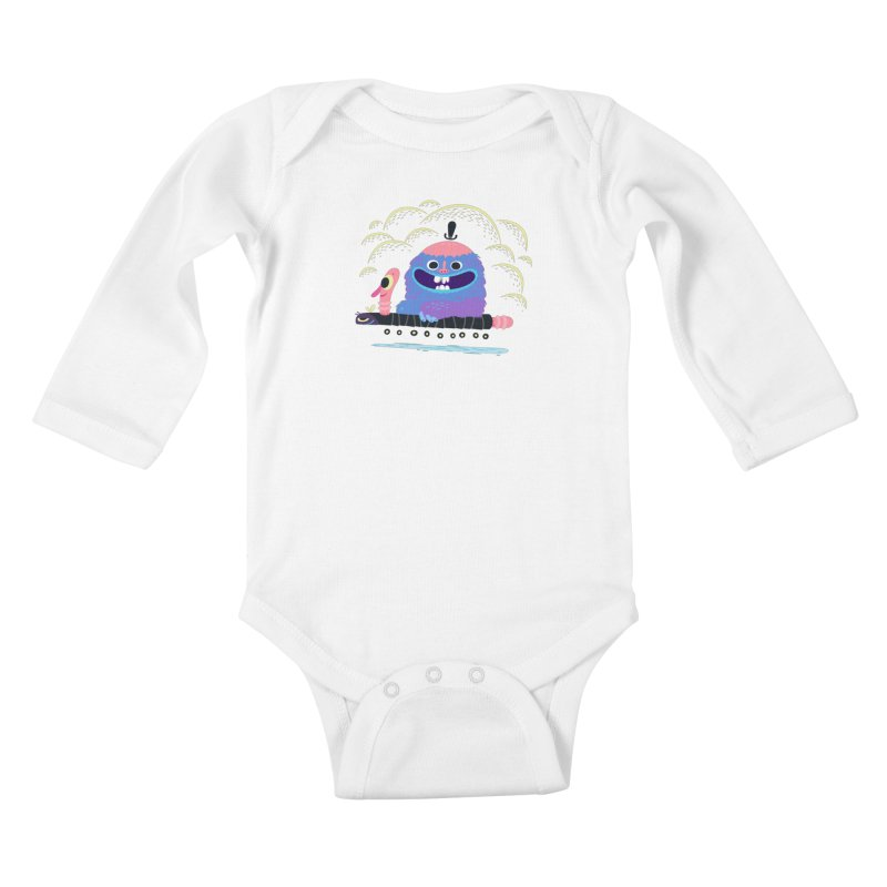 Worm Chauffeur Kids Baby Longsleeve Bodysuit by The Lurid Tusk