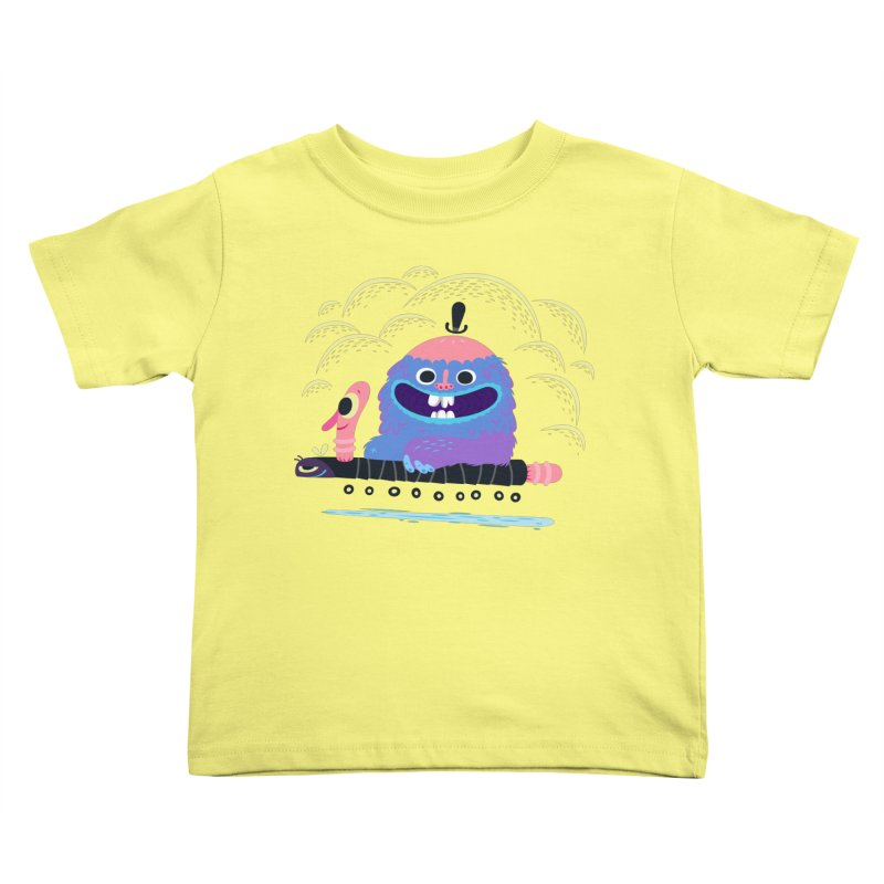 Worm Chauffeur Kids Toddler T-Shirt by The Lurid Tusk