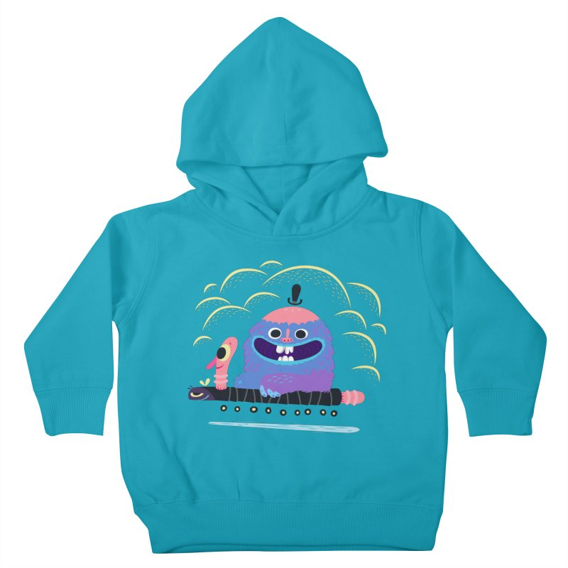 Worm Chauffeur Kids Toddler Pullover Hoody by The Lurid Tusk