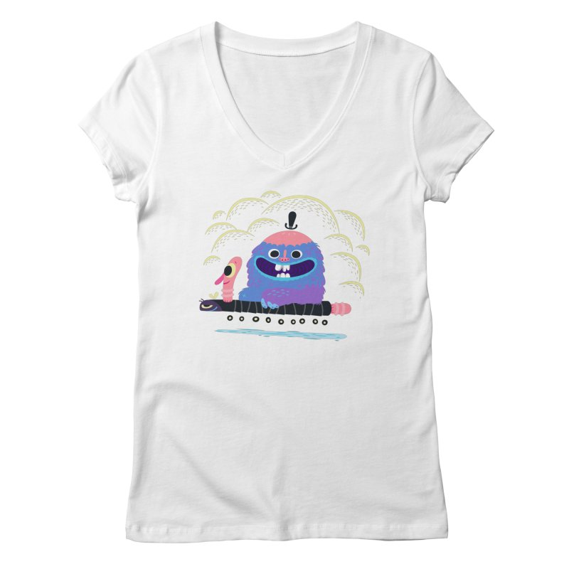 Worm Chauffeur Women's Regular V-Neck by The Lurid Tusk