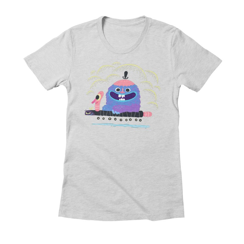 Worm Chauffeur Women's Fitted T-Shirt by The Lurid Tusk