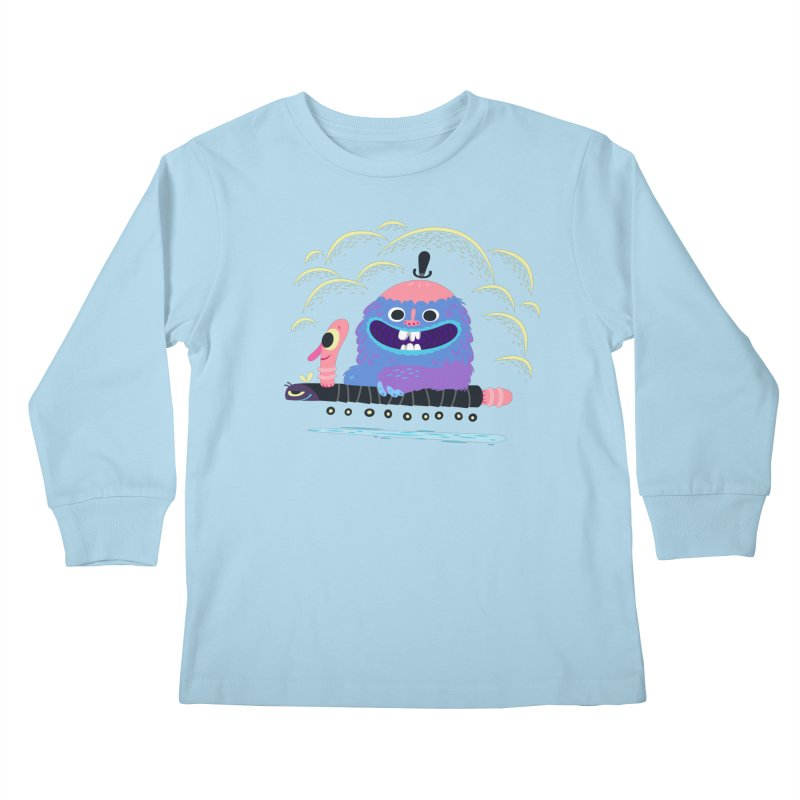 Worm Chauffeur Kids Longsleeve T-Shirt by The Lurid Tusk