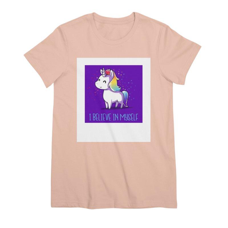 I Believe In Myself Women's Premium T-Shirt by thelyndsimae's Artist Shop