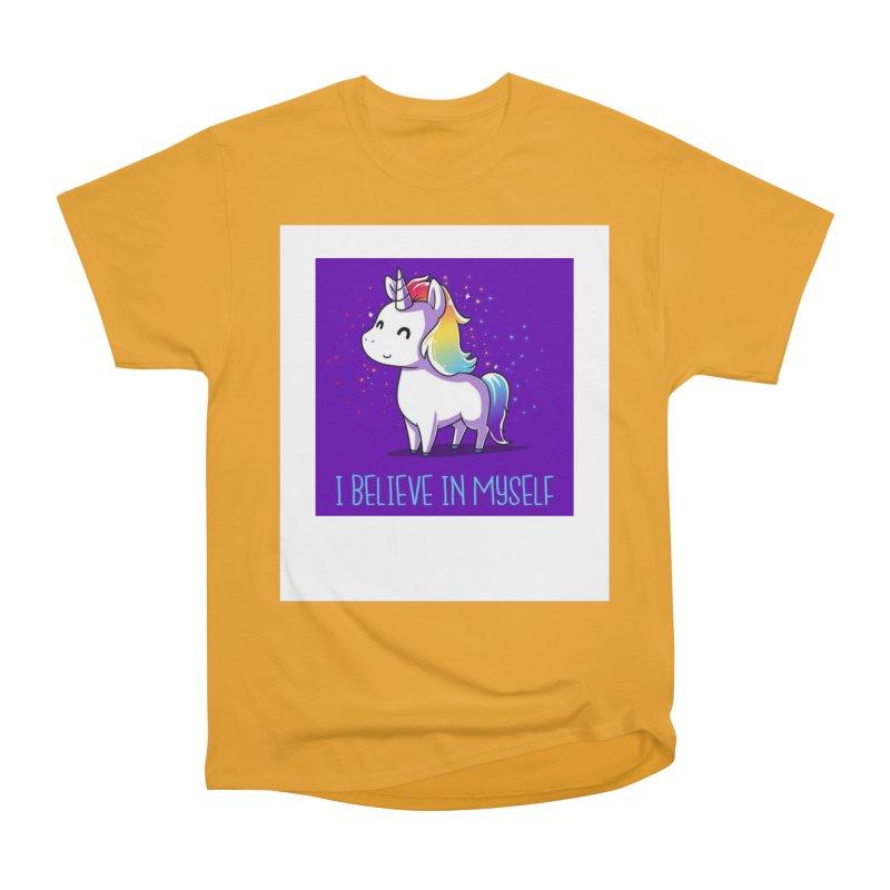I Believe In Myself Women's Heavyweight Unisex T-Shirt by thelyndsimae's Artist Shop