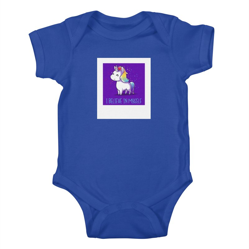 I Believe In Myself Kids Baby Bodysuit by thelyndsimae's Artist Shop