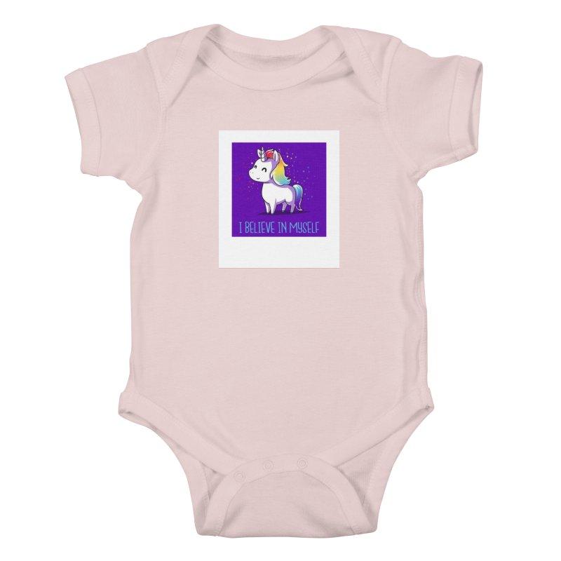 I Believe In Myself Kids Baby Bodysuit by thelyndsimae's Artist Shop