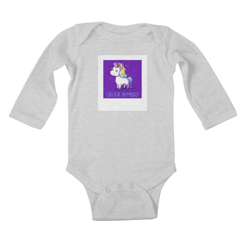 I Believe In Myself Kids Baby Longsleeve Bodysuit by thelyndsimae's Artist Shop