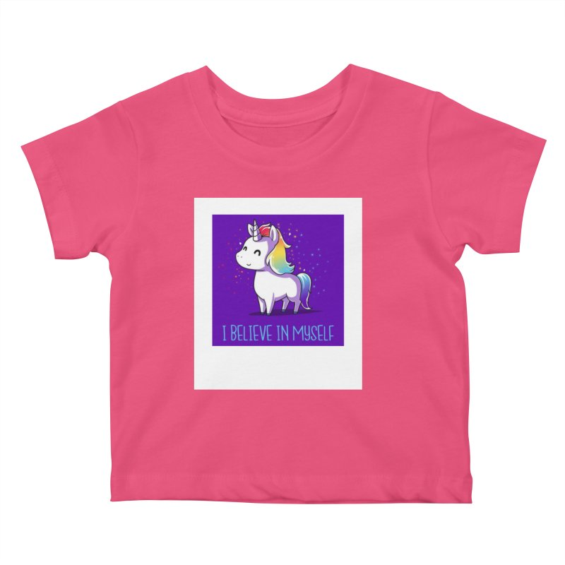 I Believe In Myself Kids Baby T-Shirt by thelyndsimae's Artist Shop