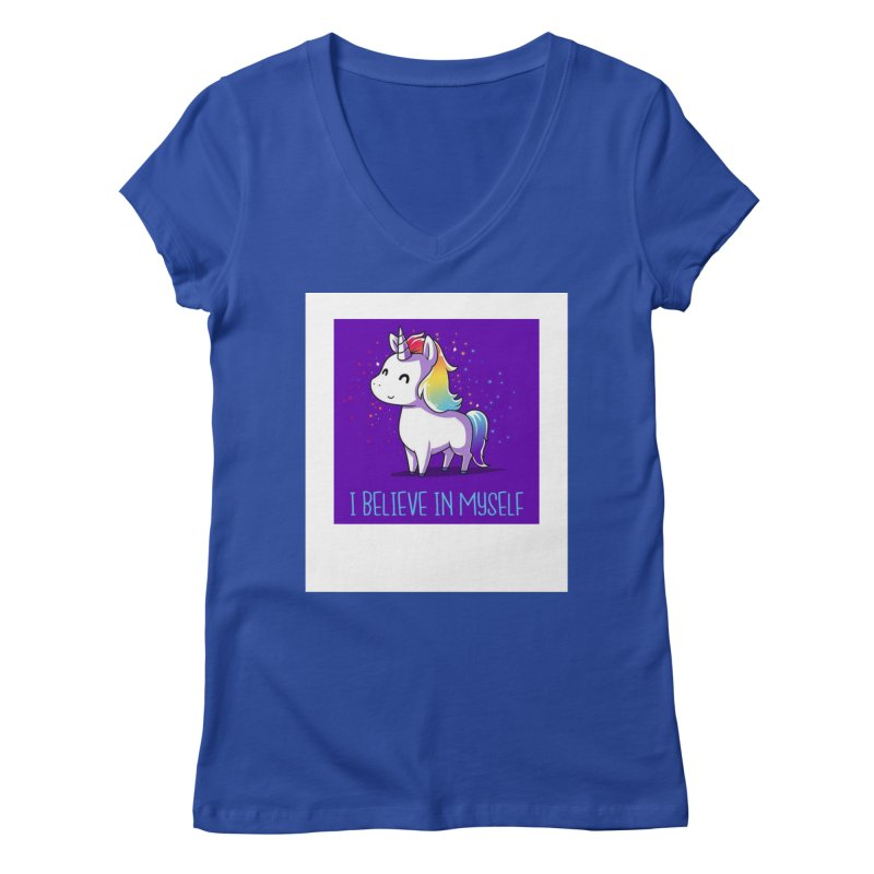 I Believe In Myself Women's V-Neck by thelyndsimae's Artist Shop