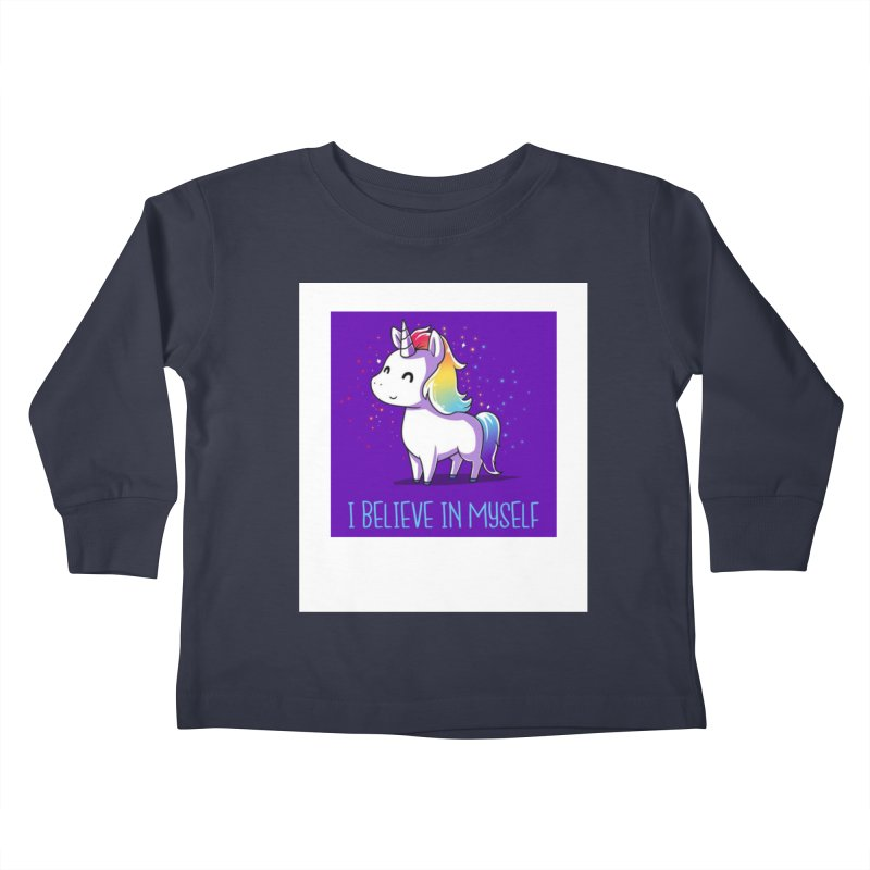 I Believe In Myself Kids Toddler Longsleeve T-Shirt by thelyndsimae's Artist Shop
