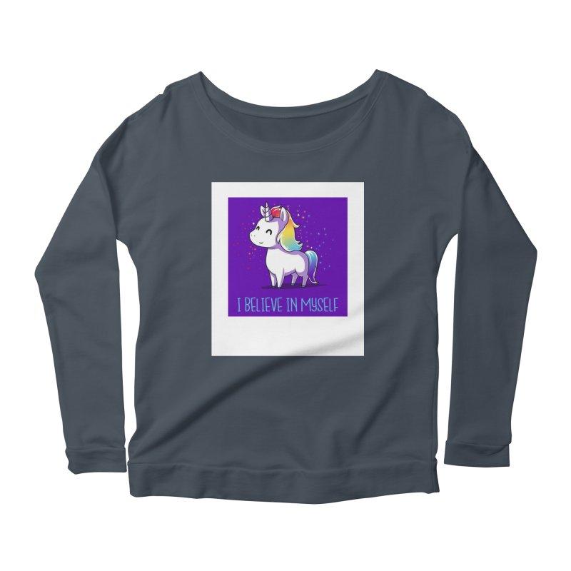 I Believe In Myself Women's Scoop Neck Longsleeve T-Shirt by thelyndsimae's Artist Shop