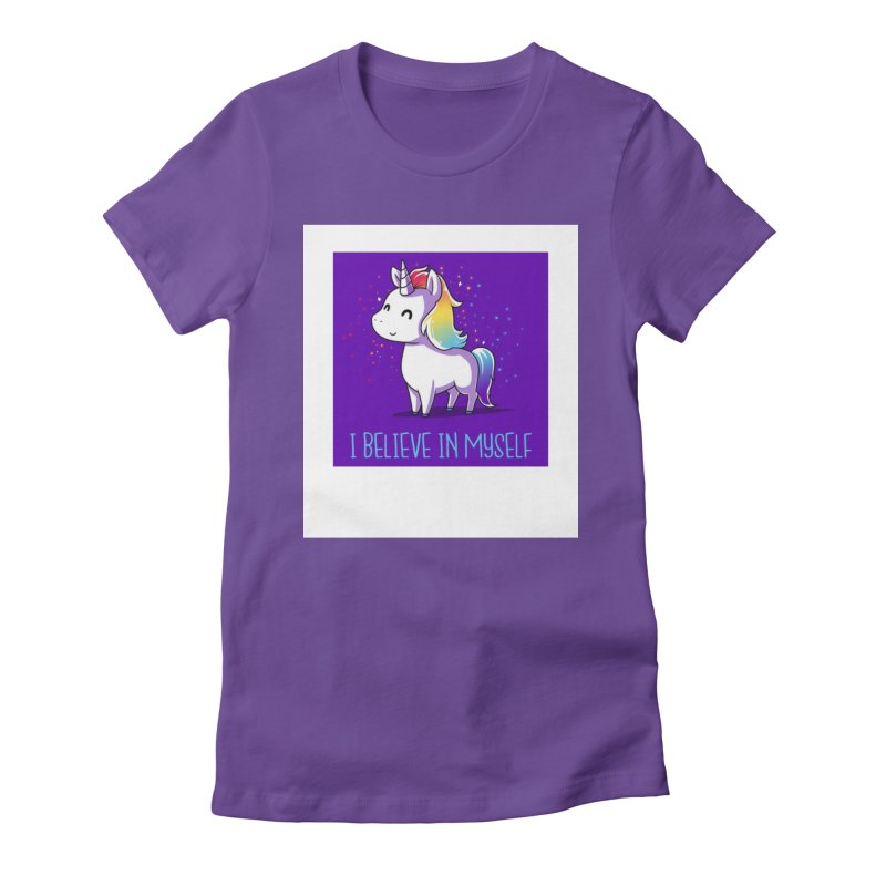 I Believe In Myself Women's Fitted T-Shirt by thelyndsimae's Artist Shop