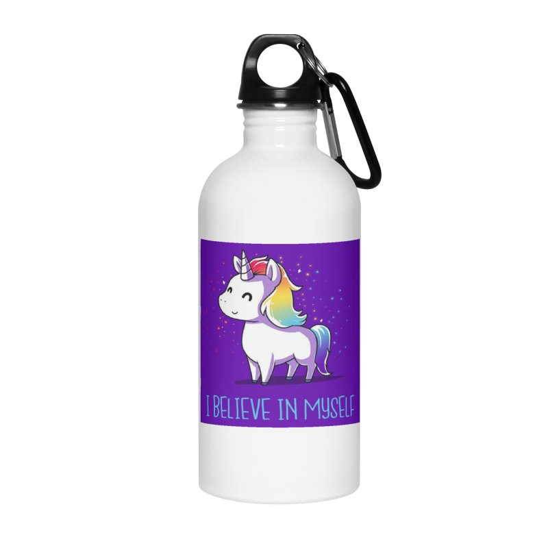 I Believe In Myself Accessories Water Bottle by thelyndsimae's Artist Shop