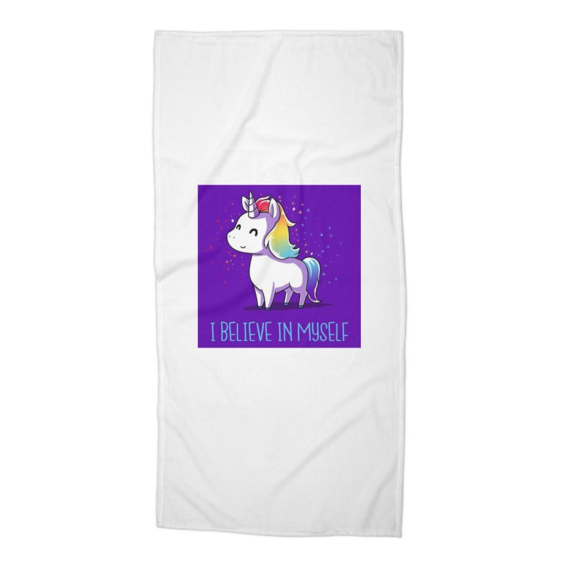 I Believe In Myself Accessories Beach Towel by thelyndsimae's Artist Shop