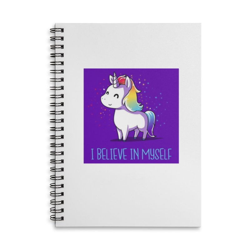 I Believe In Myself Accessories Lined Spiral Notebook by thelyndsimae's Artist Shop