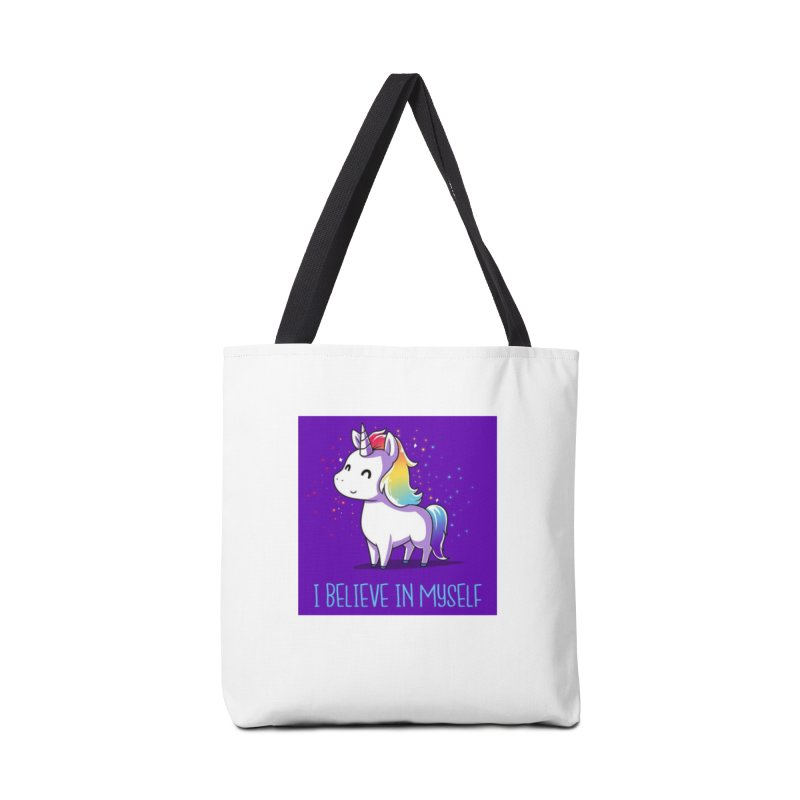 I Believe In Myself Accessories Tote Bag Bag by thelyndsimae's Artist Shop