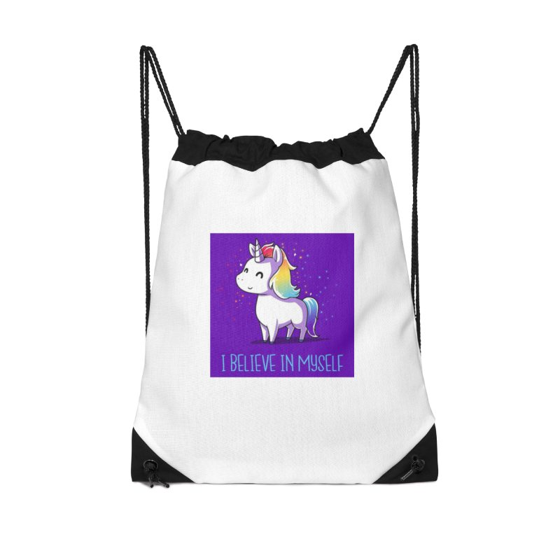 I Believe In Myself Accessories Drawstring Bag Bag by thelyndsimae's Artist Shop