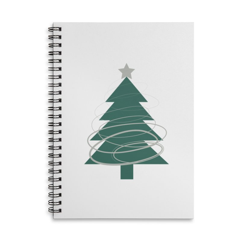 Oh Christmas Tree Accessories Lined Spiral Notebook by thelyndsimae's Artist Shop
