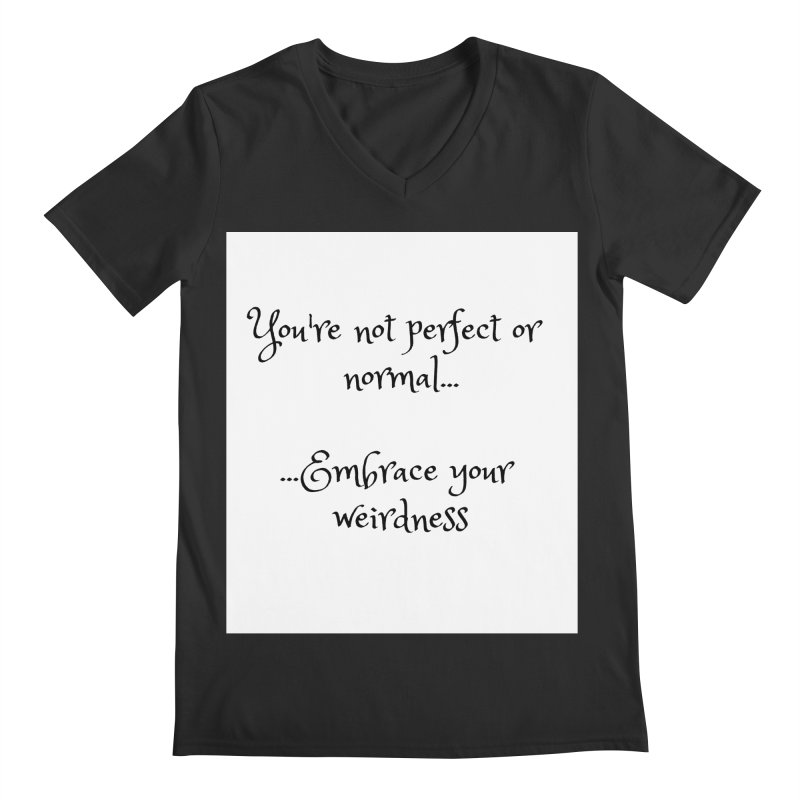 Embrace Your Weirdness Men's V-Neck by thelyndsimae's Artist Shop