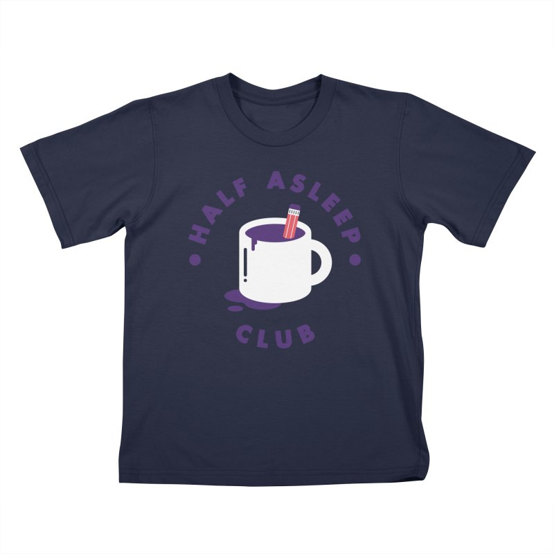 Half Asleep Club Kids T-Shirt by themeekshall's Shop