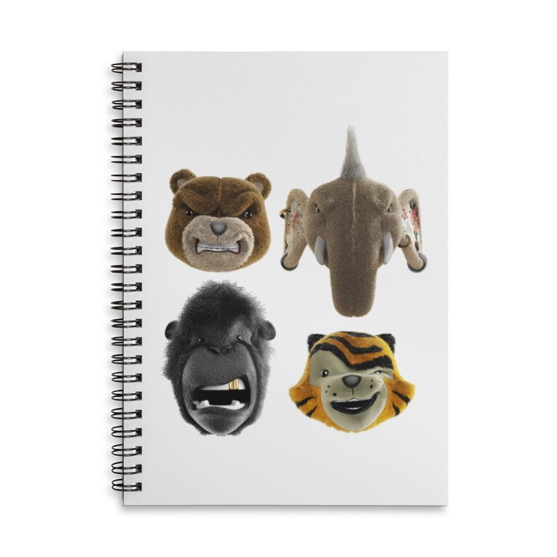 The Mega Plush Team Accessories Lined Spiral Notebook by The Mega Plush Shop