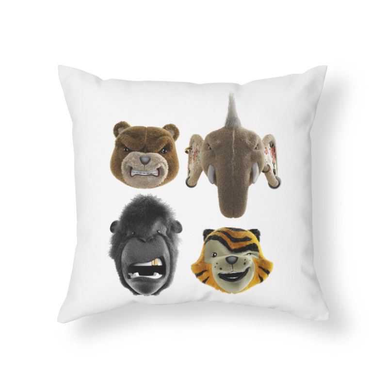 The Mega Plush Team Home Throw Pillow by The Mega Plush Shop