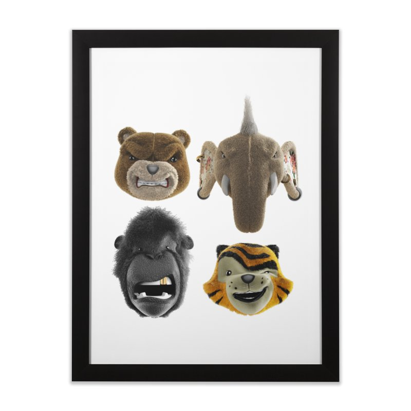 The Mega Plush Team Home Framed Fine Art Print by The Mega Plush Shop