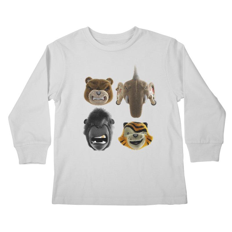 The Mega Plush Team Kids Longsleeve T-Shirt by The Mega Plush Shop
