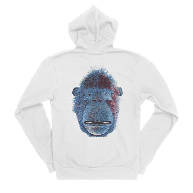 Mac Portrait Men's Sponge Fleece Zip-Up Hoody by The Mega Plush Shop