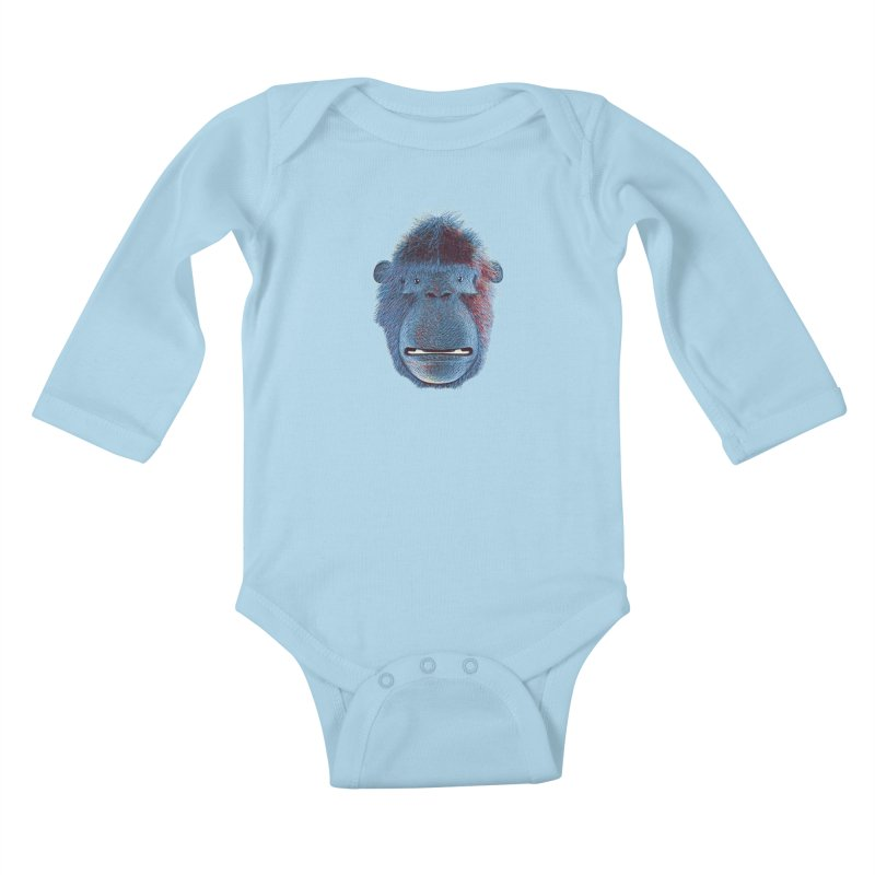 Mac Portrait Kids Baby Longsleeve Bodysuit by The Mega Plush Shop