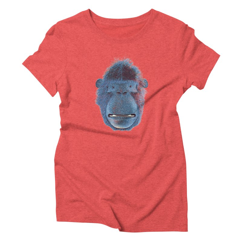 Mac Portrait Women's Triblend T-Shirt by The Mega Plush Shop