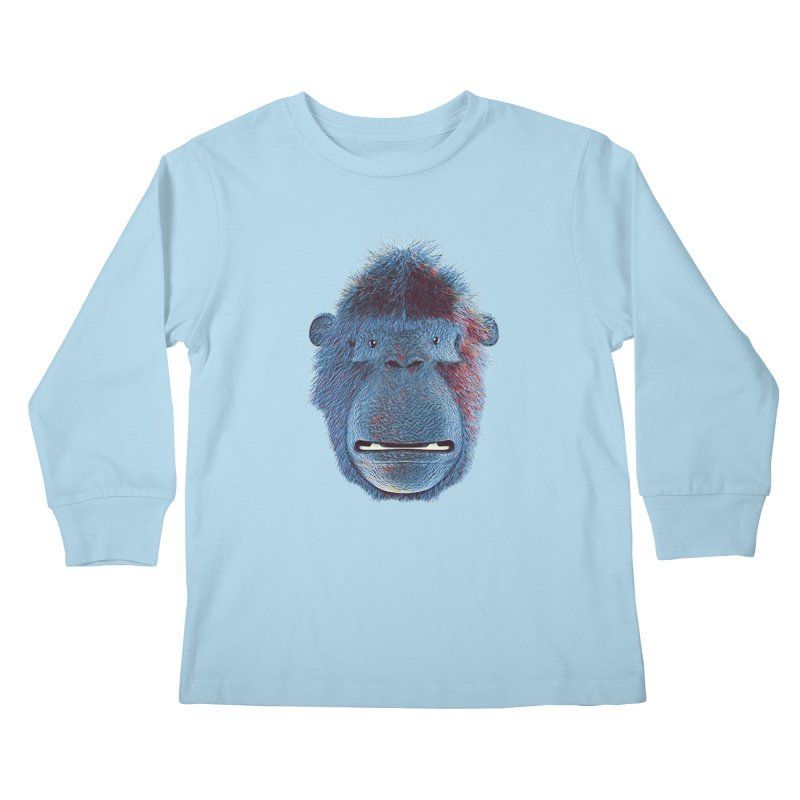 Mac Portrait Kids Longsleeve T-Shirt by The Mega Plush Shop