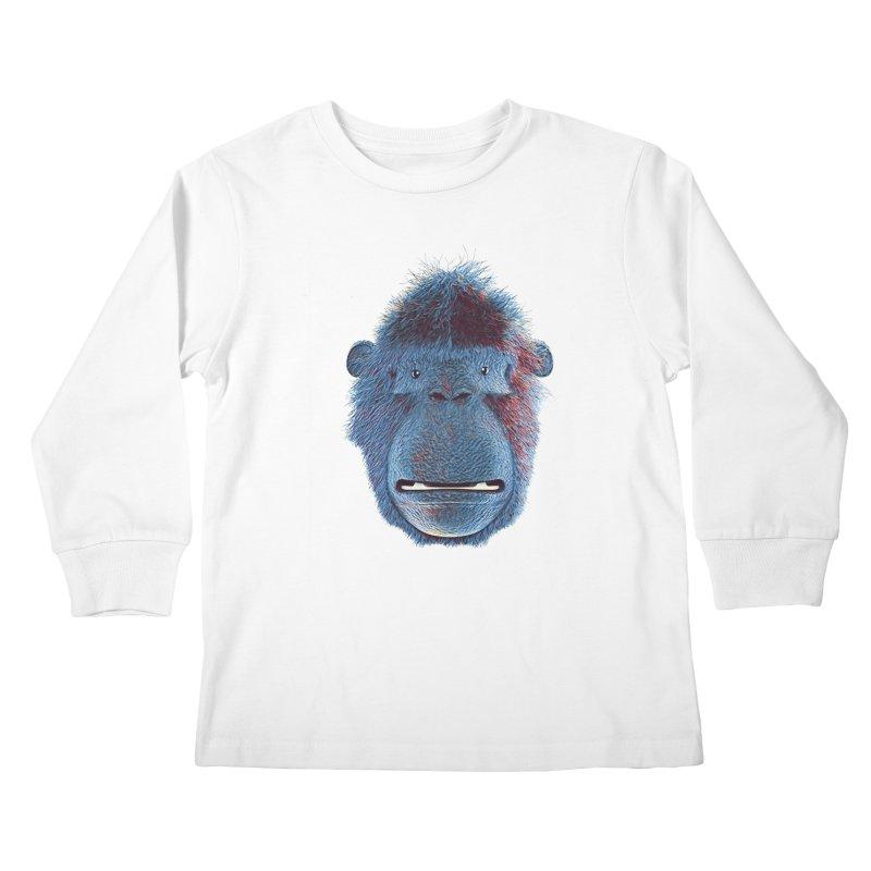 Mac Portrait Kids Longsleeve T-Shirt by The Mega Plush Shop